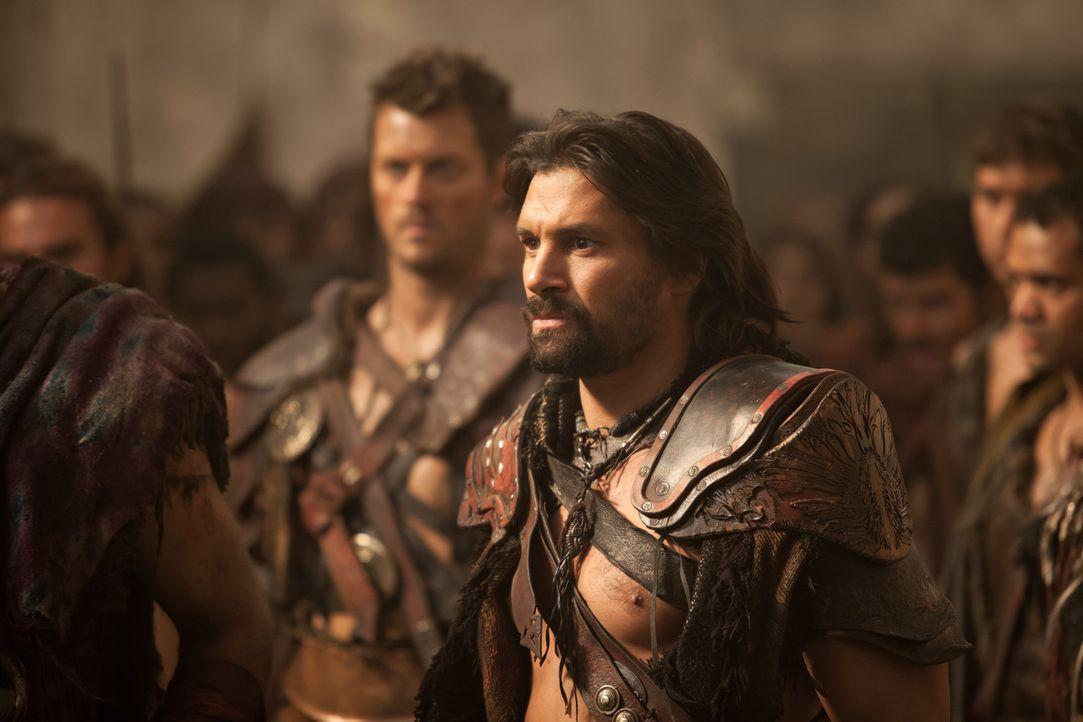 Als Crixus (Manu Bennett) sich den Befehlen Spartacus' widersetzt, muss der Thraker eine schwere Entscheidung fällen ... - Bildquelle: 2012 Starz Entertainment, LLC. All rights reserved.