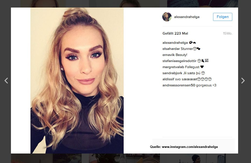 Alexandra-Ivarsdottir-www-instagram-com-alexandrahelga - Bildquelle: www.instagram.com/alexandrahelga