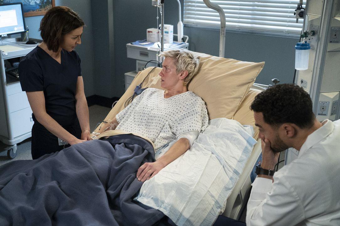 (v.l.n.r.) Dr. Amelia Shepherd (Caterina Scorsone); Toby Donnelly (Arielle Hader); Dr. Jackson Avery (Jesse Williams) - Bildquelle: Eric McCandless ABC Studios