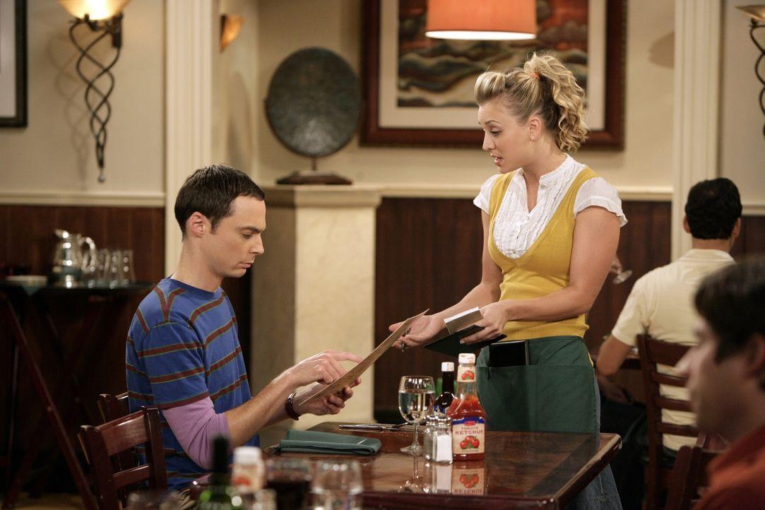 Sheldon Cooper (Jim Parsons, l.); Penny (Kaley Cuoco, r.) - Bildquelle: Sonja Flemming 2009 CBS Broadcasting Inc. All Rights Reserved / Sonja Flemming