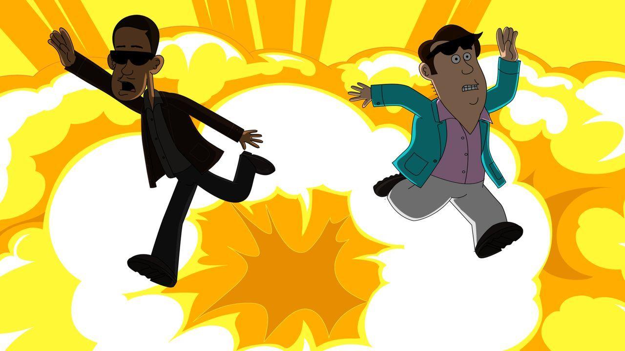 Wollen die Beamten der Drogenbehörde als Undercoveragenten unterstützen: Denzel (l.) und Steve (r.) ... - Bildquelle: Motion Picture   2012 Twentieth Century Fox Film Corporation and Comedy Partners. All rights reserved.