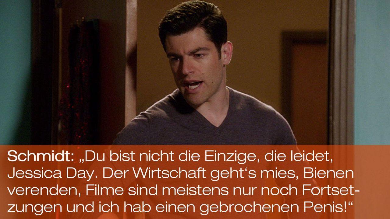 New Girl - Zitate - Staffel 1 Folge 23: 01 - Schmidt (Max Greenfield) - Bildquelle: 20th Century Fox