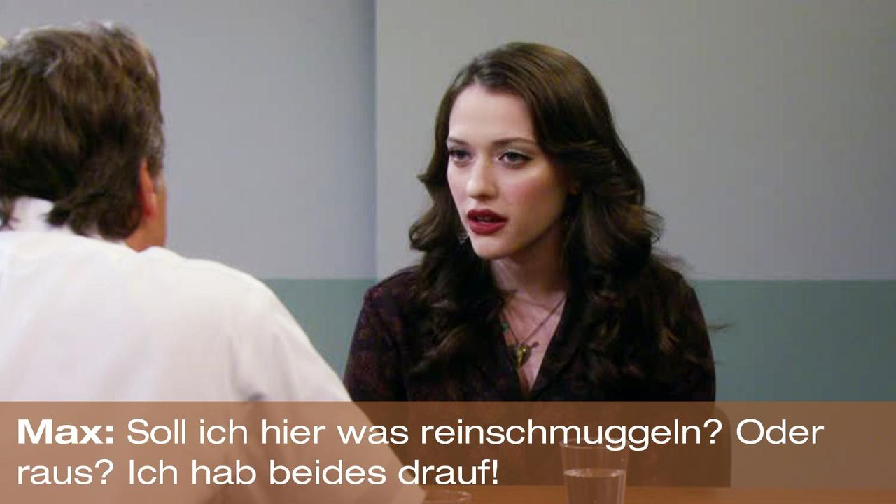 2-broke-girls-zitat-staffel2-episode2-kostbarer-pokal-max-schmuggeln-warnerpng 1600 x 900 - Bildquelle: Warner Brothers Entertainment Inc.