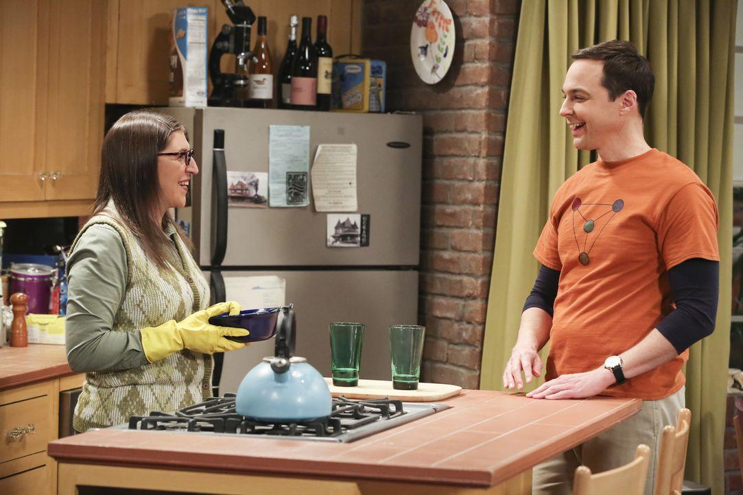 Noch glauben Amy (Mayim Bialik, l.) und Sheldon (Jim Parsons, r.), bei ihrer Hochzeitsplanung alles im Griff zu haben ... - Bildquelle: Warner Bros. Television
