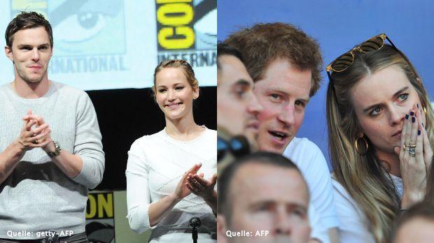 Nicholas-Hoult-Jennifer-Lawrence-13-07-20-Prinz-Harry-Cressida-Bonas-14-03-09-getty-AFP.jpg - Bildquelle: getty-AFP/AFP