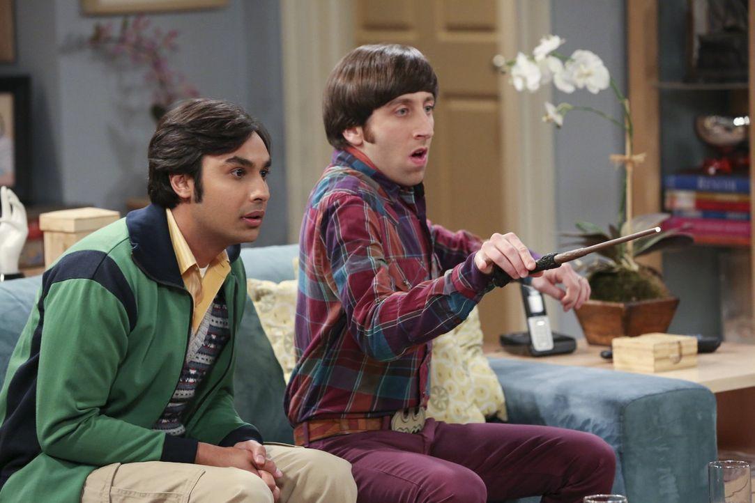 Verbringen lustige Stunden miteinander: Raj (Kunal Nayyar, l.) und Howard (Simon Helberg, r.) ... - Bildquelle: Warner Brothers