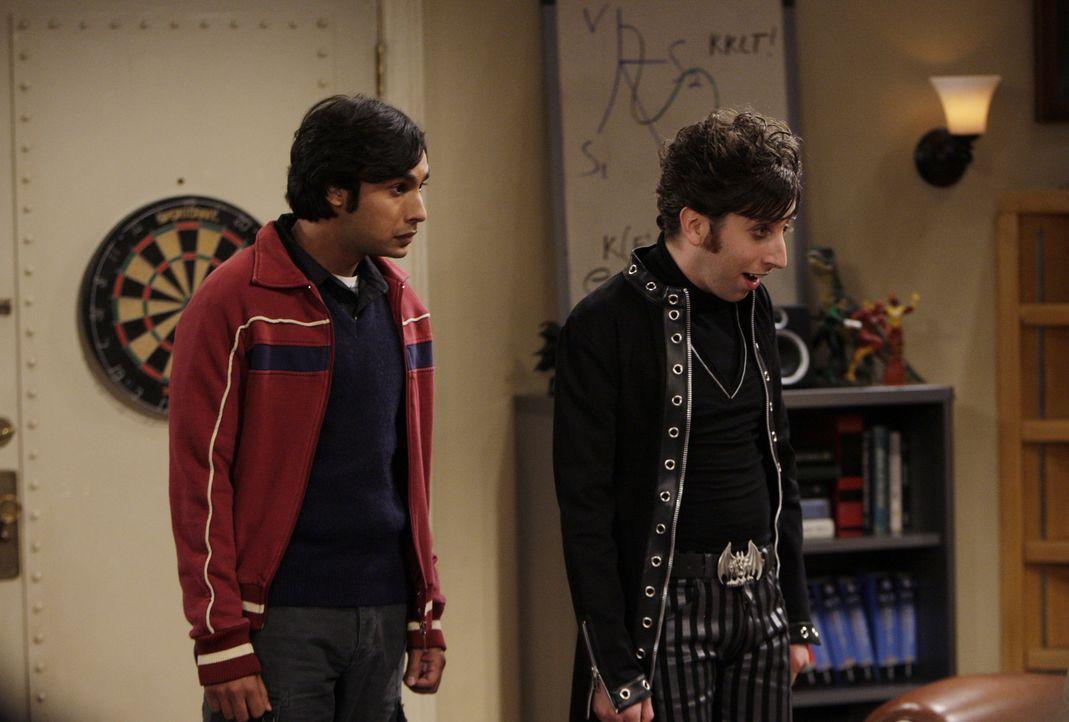 Haben einen Plan, um Mädchen abzuschleppen: Raj (Kunal Nayyar, l.) und Howard (Simon Helberg, r.) ... - Bildquelle: Warner Bros. Television
