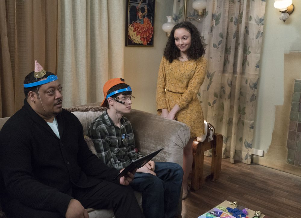 (v.l.n.r.) Kenneth (Cedric Yarbrough); JJ DiMeo (Micah Fowler); Izzy (Kayla Maisonet) - Bildquelle: 2018-2019 American Broadcasting Companies. All rights reserved.