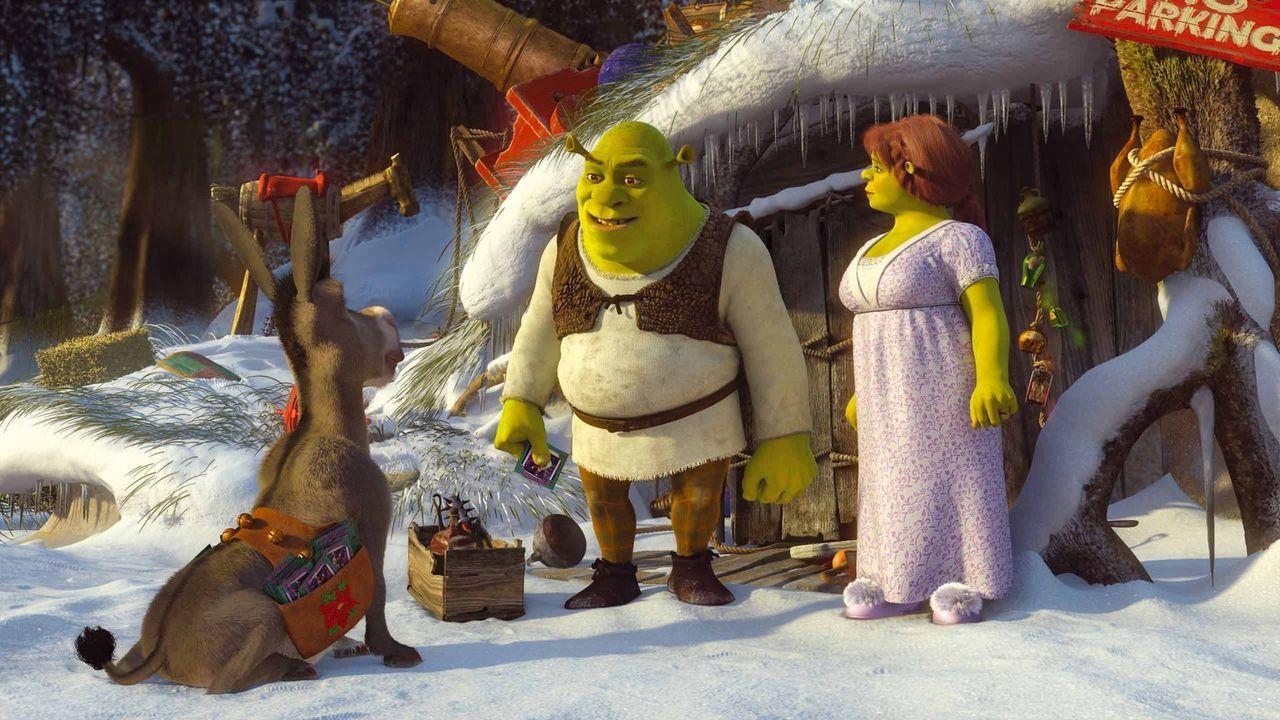 Obwohl Shrek wirklich überhaupt kein Interesse an Weihnachten hat, versucht er Fiona und den Kindern zuliebe, das perfekte Weihnachtsfest zu organi... - Bildquelle: 2007   DreamWorks Animation LLC.  All rights reserved.