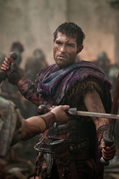Während Spartacus (Liam McIntyre) versucht, seine Leute in den Bergen in Sicherheit zu bringen, beschließt Gannicus, die Römer innerhalb der Stadtma... - Bildquelle: 2012 Starz Entertainment, LLC. All rights reserved.