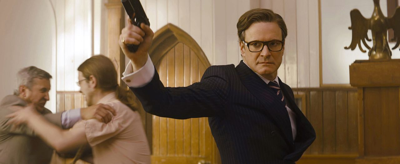 Als der Multi-Millionär Valentine einen undurchsichtigen Plan gegen die gesamte Menschheit ausheckt, sieht sich der Agent der Kingsmen Harry Hart (C... - Bildquelle: 2015 Twentieth Century Fox Film Corporation. All rights reserved.