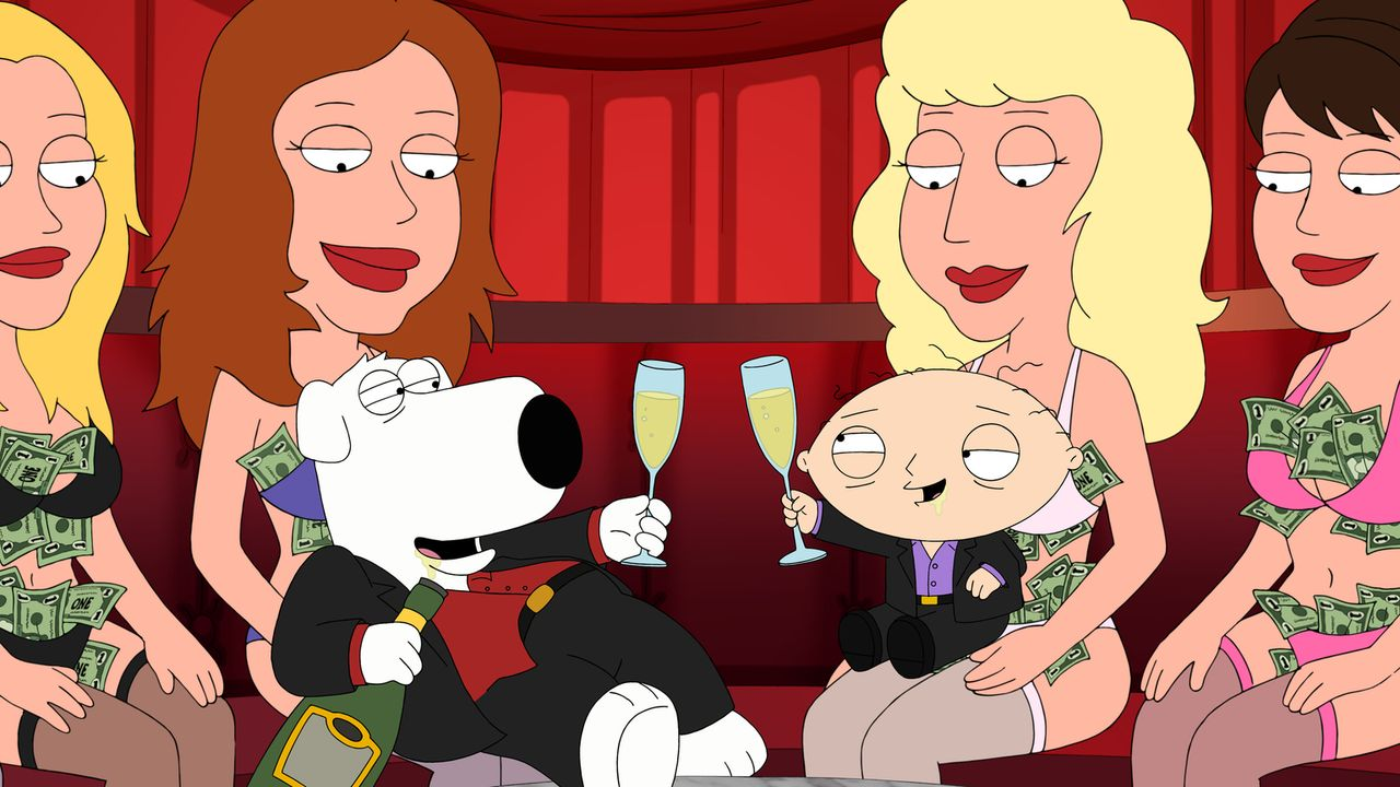 Genießen ihre Zeit in Las Vegas: Brian (l.) und Stewie (r.) ... - Bildquelle: 2013 Twentieth Century Fox Film Corporation. All rights reserved.