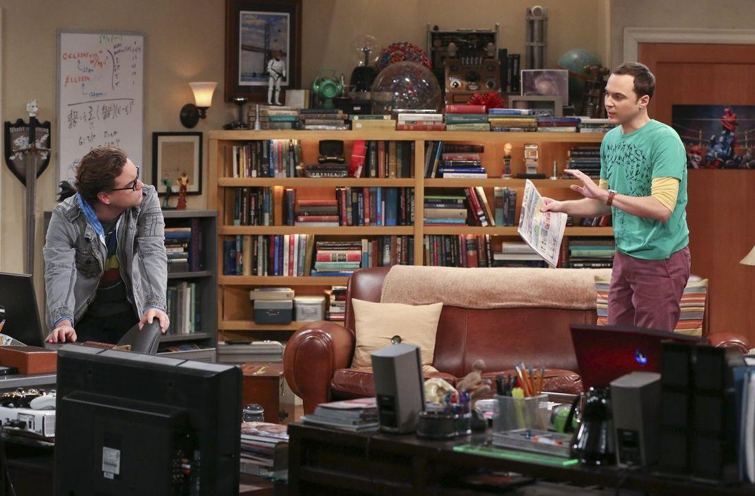 Während Sheldon (Jim Parsons, r.) versucht, sich an Amy zu rächen, nachdem sie einen seiner Lieblingsfilme für ihn ruiniert hat, findet Leonard (Joh... - Bildquelle: Warner Bros. Television