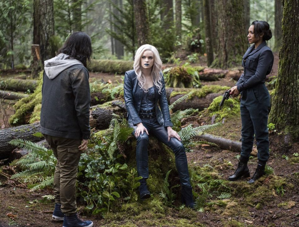 Gelingt es Cisco (Carlos Valdes, l.) und Iris (Candice Patton, r.), Caitlin alias Killer Frost (Danielle Panabaker, M.) dazu zu bewegen, ihnen Zooms... - Bildquelle: Warner Bros. Entertainment, Inc.