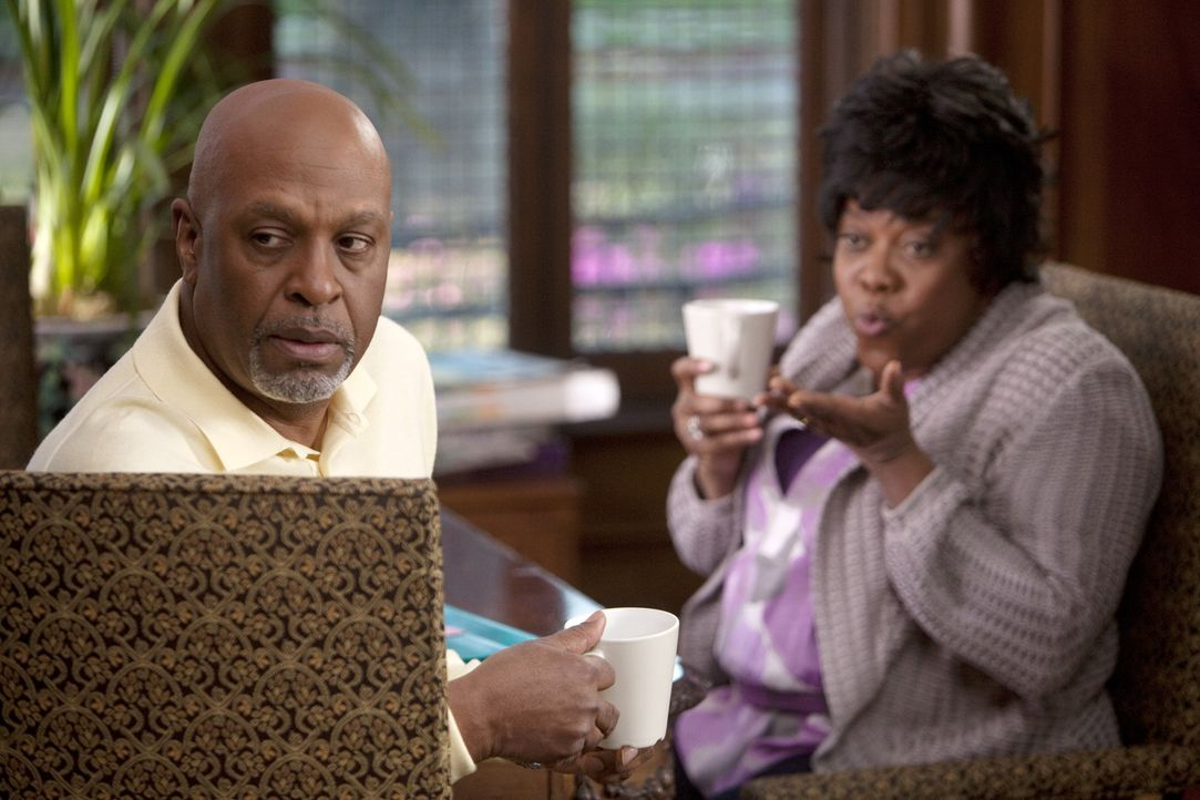 Während die Ärzte eine Unbekannte behandeln, macht Richard (James Pickens, Jr., l.) eine beunruhigende Entdeckung, als er Adele (Loretta Devine, r... - Bildquelle: Touchstone Television