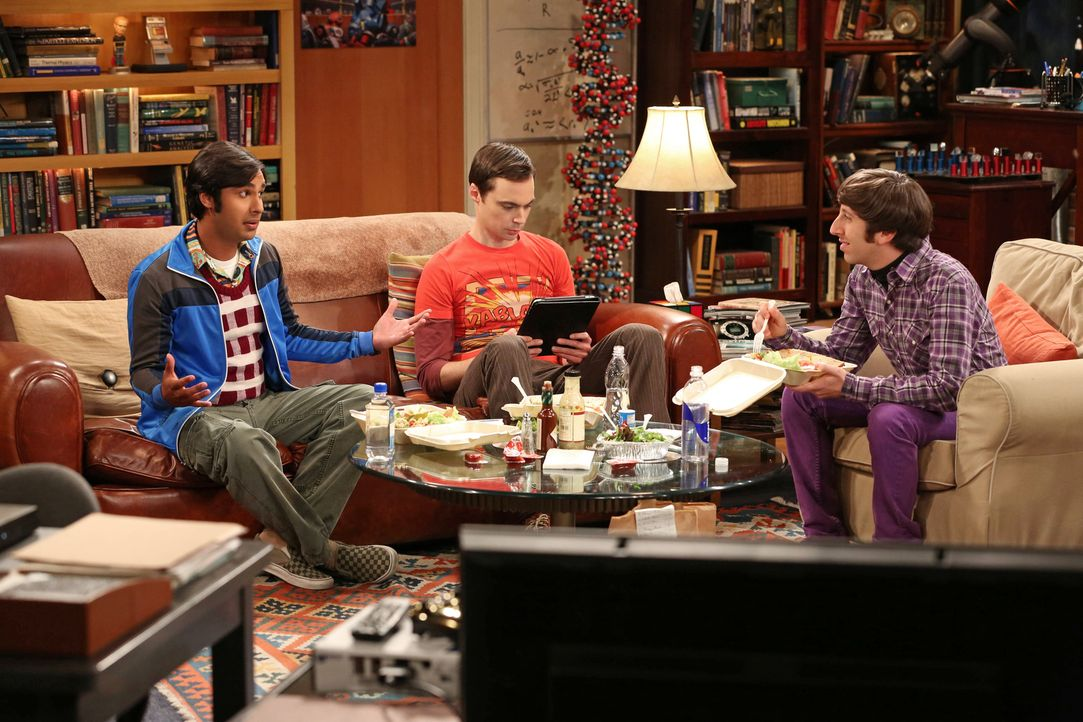 Gute Freunde: Howard (Simon Helberg, r.), Sheldon (Jim Parsons, M.) und Raj (Kunal Nayyar, l.) ... - Bildquelle: Warner Bros. Television