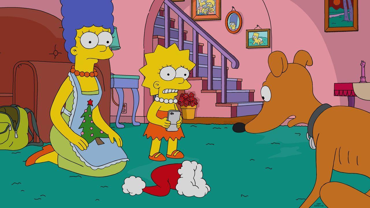 (v.l.n.r.) Marge; Lisa; Knecht Ruprecht - Bildquelle: 2019-2020 Twentieth Century Fox Film Corporation.  All rights reserved.