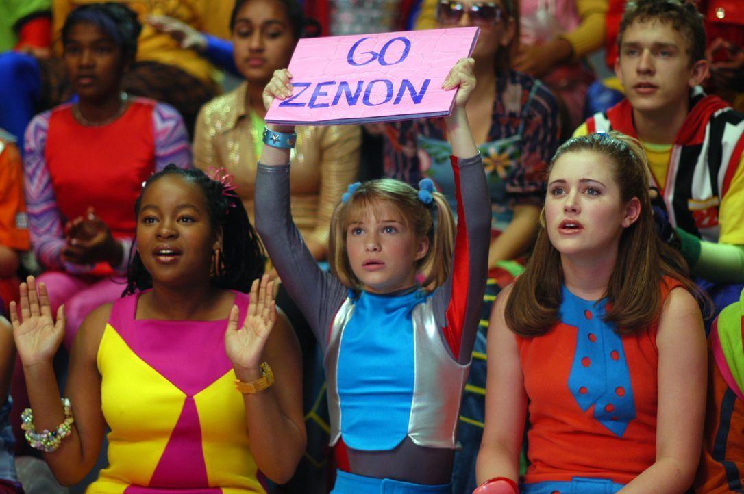 Zenons Fanclub: (v.l.n.r.) Cassiopeia (Phumi Mthembu), Dasha (Alyson Morgan) und Margie (Lauren Maltby) ? - Bildquelle: The Disney Channel