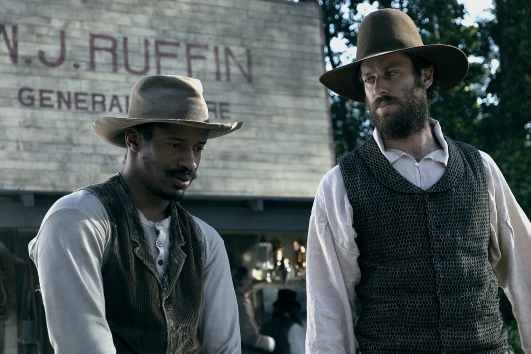 Nat Turner (Nate Parker, l.); Samuel Turner (Armie Hammer, r.) - Bildquelle: 2016 Twentieth Century Fox Film Corporation.  All rights reserved.