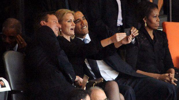 Ein Selfie mit Barack Obama? - Bildquelle: AFP