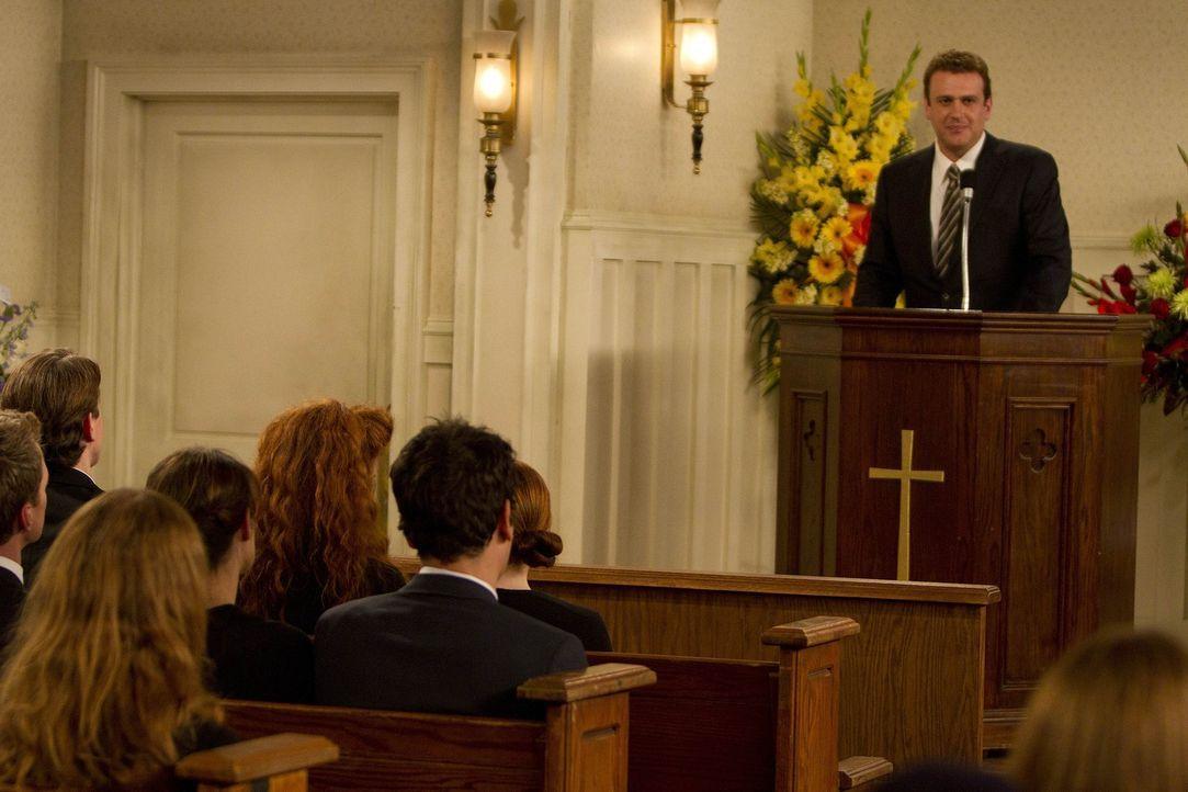 Hält eine kleine Rede in Gedenken an seinen Vater: Marshall (Jason Segel) ... - Bildquelle: 20th Century Fox International Television