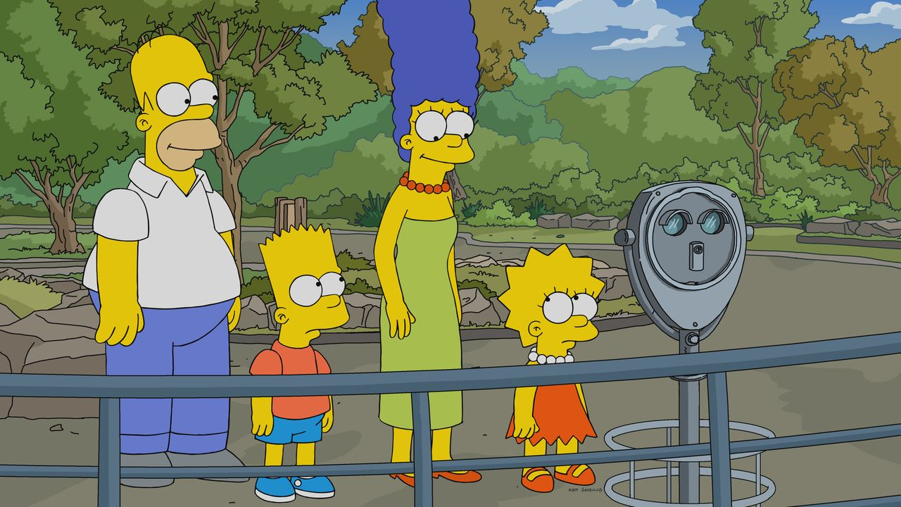 (v.l.n.r.) Homer; Bart; Marge; Lisa - Bildquelle: 2018-2019 Fox and its related entities.  All rights reserved.