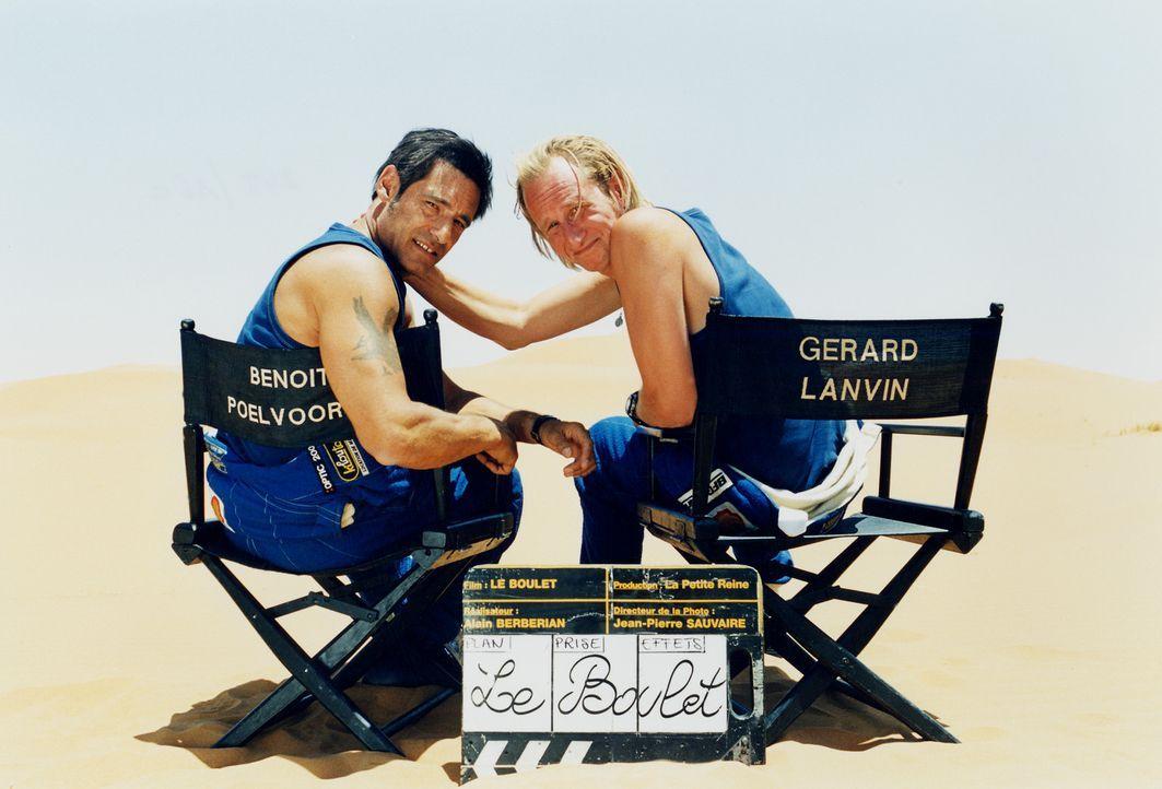 Ball & Chain - Zwei Nieten und sechs Richtige: Gérard Lanvin, l. und Benoît Poelvoorde, r. - Bildquelle: Starmedia Home Entertainment