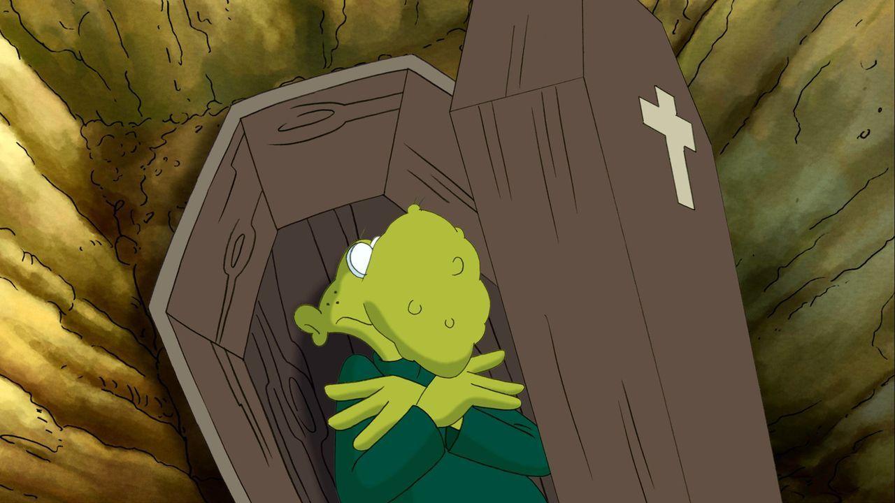Niemand bemerkt, dass Arschlochs Großvater, der alte Sack in einen offenen Sarg gefallen ist ,.. - Bildquelle: 2006 Senator Film