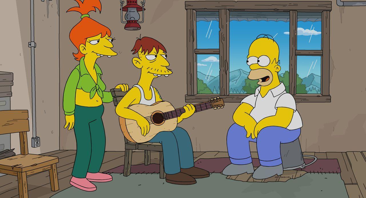 (v.l.n.r.) Brandine; Cletus; Homer - Bildquelle: 2021 by 20th Television.
