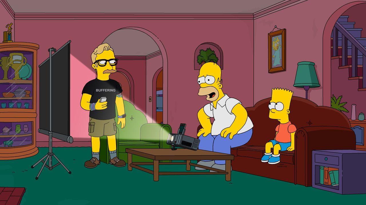 (v.l.n.r.) Warburton Parker; Homer; Bart - Bildquelle: 2019-2020 Twentieth Century Fox Film Corporation.  All rights reserved.