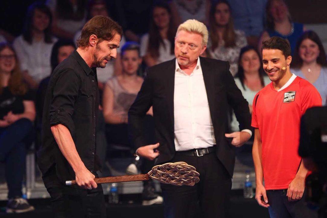 Thomas Hayo, Boris Becker und Kostja Ullmann - Bildquelle: ProSieben/Jens Hartmann