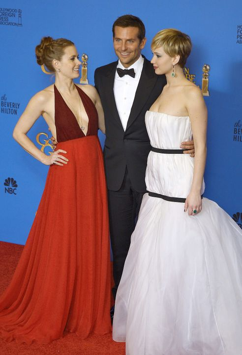 Bradley-Cooper-Amy-Adams-Jennifer-Lawrence-14-01-12-dpa - Bildquelle: Paul Buck-dpa