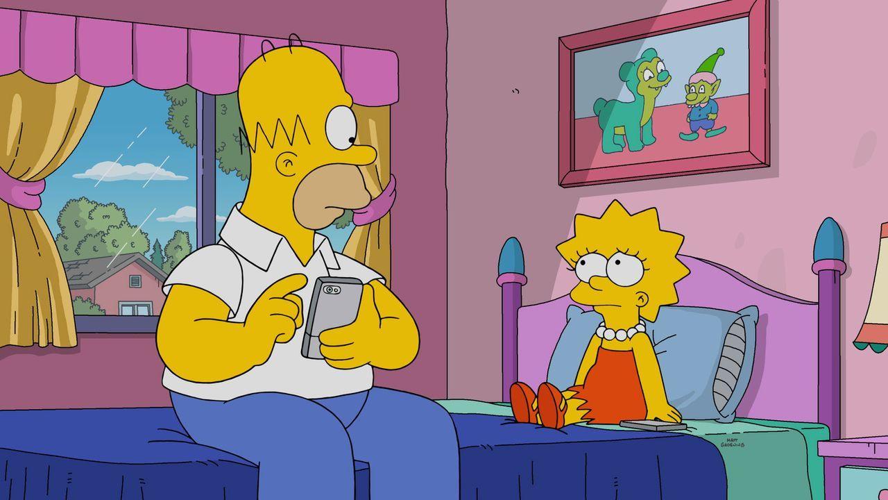 Obwohl sie eigentlich nichts gemeinsam haben, kommen sich Homer (l.) und Lisa (r.) in ihrer Vater-Tochter-Beziehung näher ... - Bildquelle: 2016-2017 Fox and its related entities. All rights reserved.