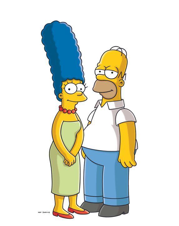 (22. Staffel) - Glücklich miteinander: Marge (l.) und Homer Simpson (r.) ... - Bildquelle: und TM Twentieth Century Fox Film Corporation - Alle Rechte vorbehalten