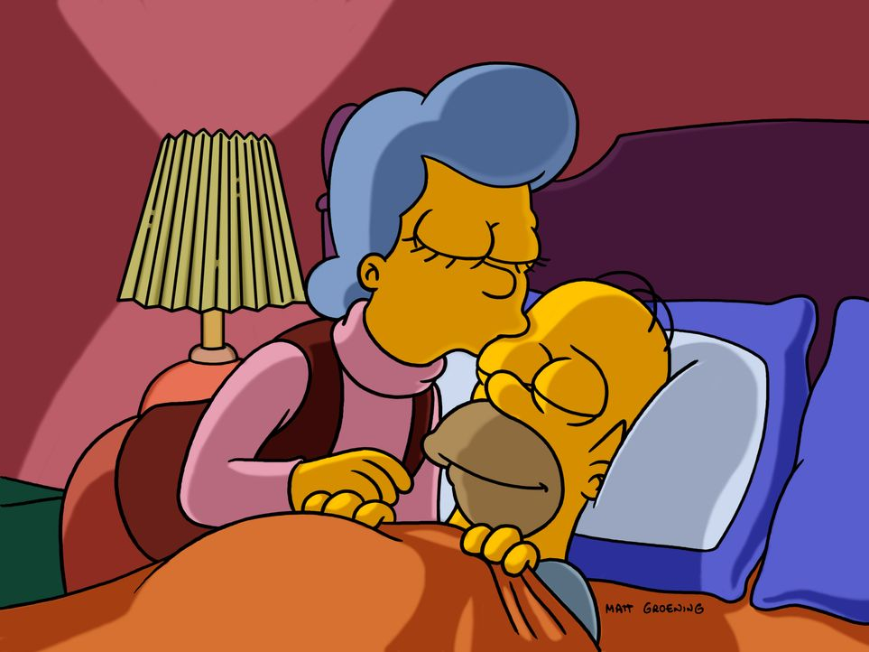 Mona Simpson (l.); Homer Simpson (r.) - Bildquelle: 2003 Fox and its related entities.  All rights reserved.