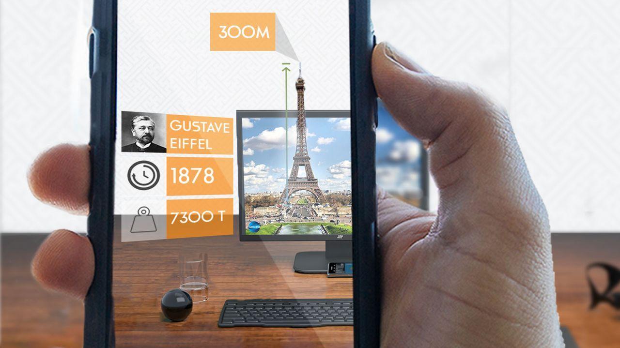 """Ein Zug, der mitten durchs Wohnzimmer fährt? Eine Weltkugel, die neben dem Fernseher schwebt? """"Galileo"""" macht's möglich. In der """"Augmented-Reality-W... - Bildquelle: ProSieben/ eyecandylab"""