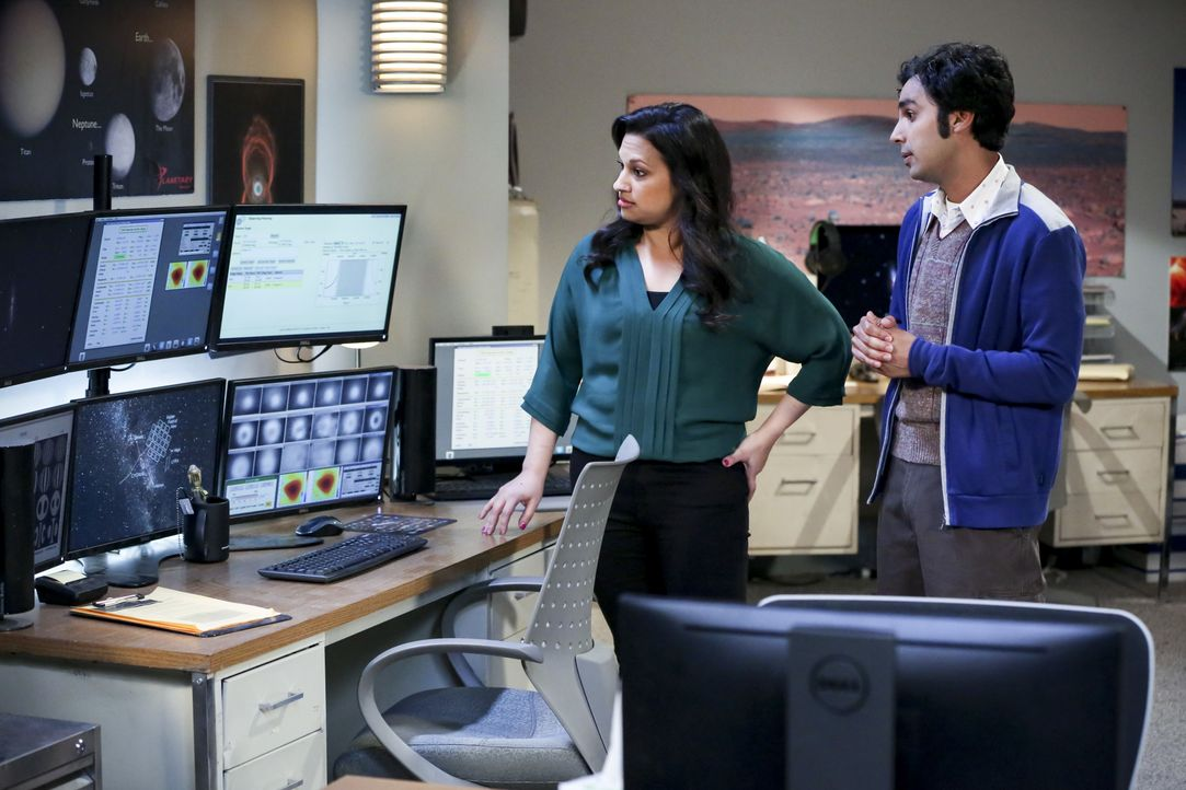 Anu (Rati Gupta, l.); Rajesh Koothrappali (Kunal Nayyar, r.) - Bildquelle: Michael Yarish 2019 CBS Broadcasting, Inc. All Rights Reserved / Michael Yarish