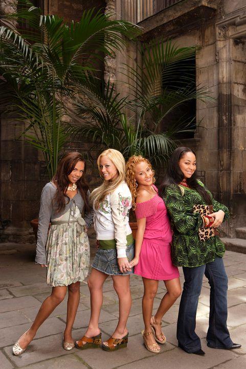 """Erobern Spanien: die vier """"Cheetah Girls"""" (v.l.n.r.) Aqua (Kiely Williams), Dorinda (Sabrina Bryan), Chanel (Adrienne Bailon) und Galleria (Raven) ... - Bildquelle: Buena Vista International Television"""