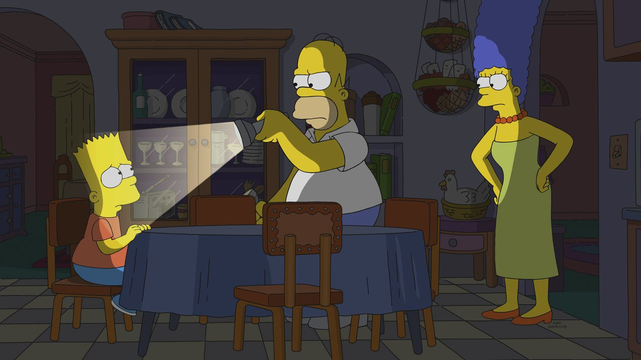 (v.l.n.r.) Bart; Homer; Marge - Bildquelle: 2018-2019 Fox and its related entities. All rights reserved.
