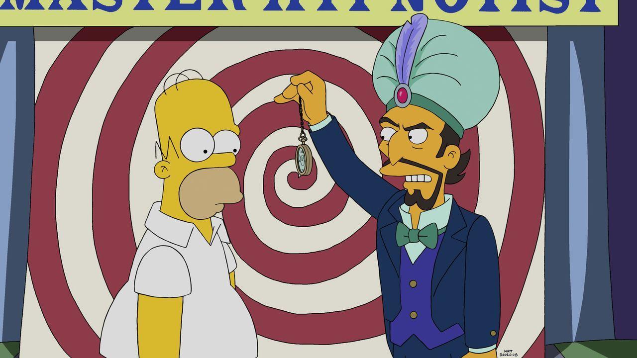 Die Hypnose sollte Homer (l.) länger bleiben, als es ihm und seiner Familie lieb ist ... - Bildquelle: 2014 Twentieth Century Fox Film Corporation. All rights reserved.
