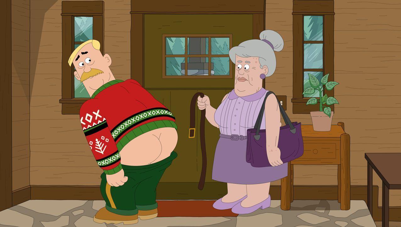 Schafft es Woddy (l.), die Fesseln seiner Mutter Anita (r.) zu sprengen? - Bildquelle: 2014 Twentieth Century Fox Film Corporation and Comedy Partners.  All rights reserved.