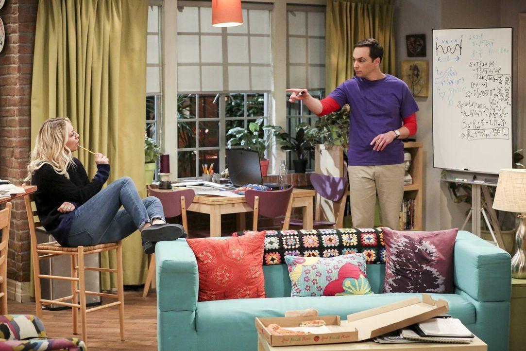 Erstaunlicherweise entwickelt sich Penny (Kaley Cuoco, l.) für Sheldon (Jim Parsons, r.) zu einer Art wissenschaftlicher Muse ... - Bildquelle: Warner Bros. Television
