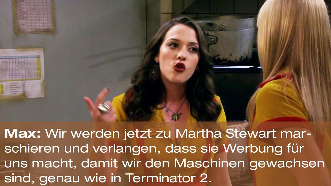 2-broke-girls-zitat-staffel2-episode2-glueckskette-max-terminator-warnerpng 1600 x 900 - Bildquelle: Warner Brothers Entertainment Inc.