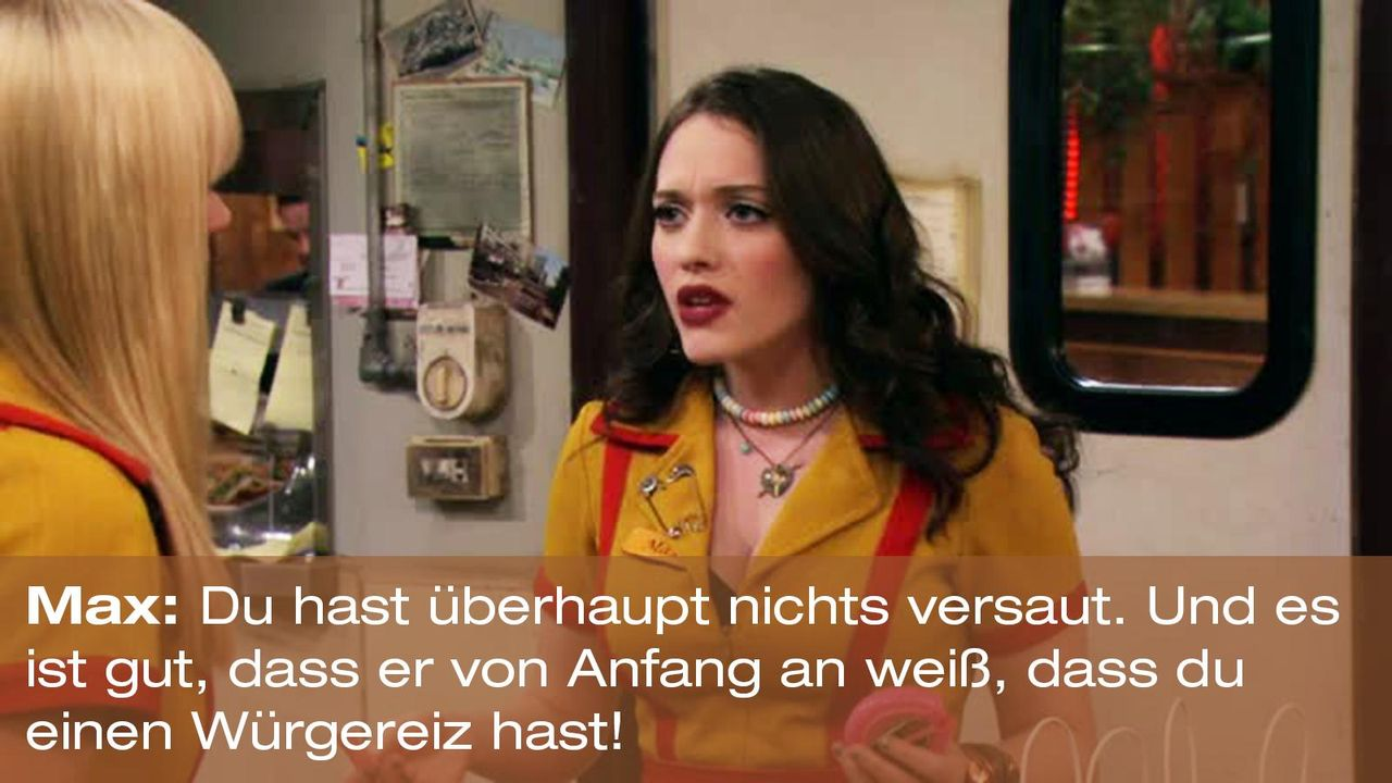 2-broke-girls-zitat-quote-staffel2-episode6-suesse-versuchung-max-wuergereiz-warnerpng 1600 x 900 - Bildquelle: Warner Brothers Entertainment Inc.