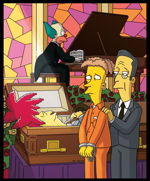 Hat Bart Tingel-Tangel-Bob (l.) auf dem Gewissen? - Bildquelle: und TM Twentieth Century Fox Film Corporation - Alle Rechte vorbehalten