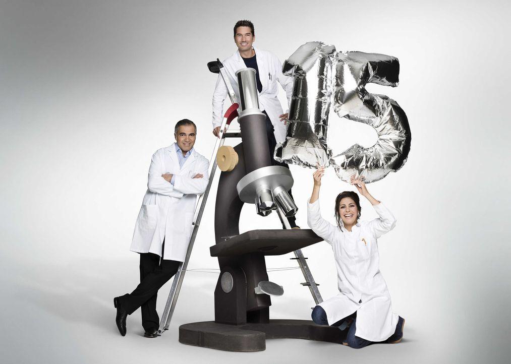 Galileo wird 15 Jahre und wir lassen's krachen (v.l.n.r.) Funda Vanroy, Aiman Abdallah und Stefan Gödde ... - Bildquelle: Arne Weychardt ProSieben