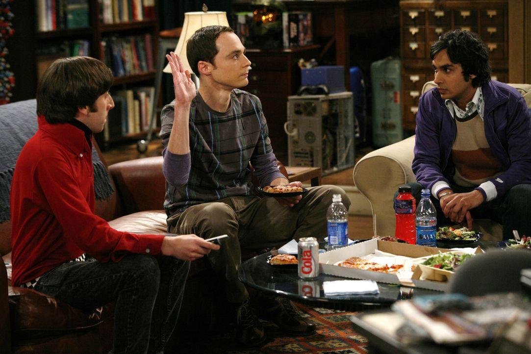 (v.l.n.r.) Howard Wolowitz (Simon Helberg); Sheldon Cooper (Jim Parsons); Rajesh Koothrappali (Kunal Nayyar) - Bildquelle: Warner Bros. Television