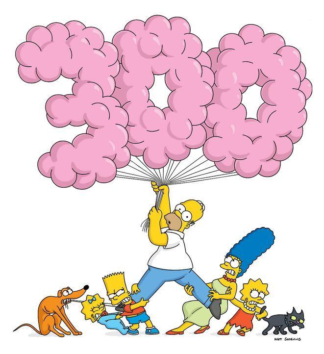 (14. Staffel) - (v.l.n.r.) Jubiläum für Hund Knecht Ruprecht, Maggie, Bart, Homer, Marge, Lisa und Kater Schneeball ... - Bildquelle: und TM Twentieth Century Fox Film Corporation - Alle Rechte vorbehalten