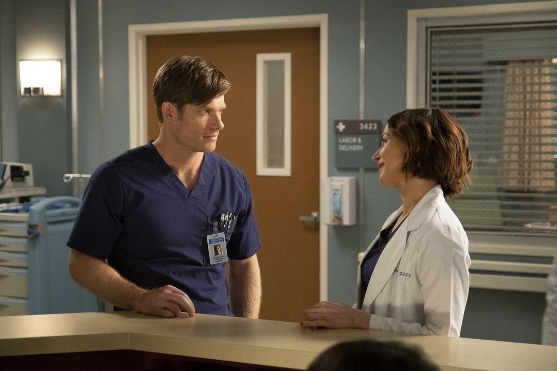 Dr. Atticus Lincoln (Chris Carmack, l.); Dr. Amelia Shepherd (Caterina Scorsone, r.) - Bildquelle: Jessica Brooks ABC Studios / Jessica Brooks
