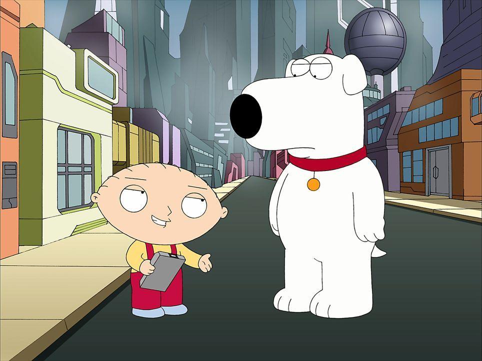 Stewie und Brian begeben sich auf eine wilde Reise quer durch alle möglichen Universen mit den unterschiedlichsten und verrücktesten Eigenschaften .... - Bildquelle: 2007-2008 Twentieth Century Fox Film Corporation. All rights reserved.